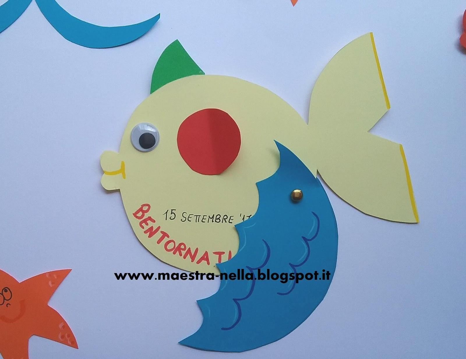 Pesciolini da colorare per bambini for Immagini pesciolini