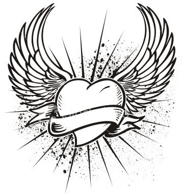 Heart wings tattoo designs best tattoos designs for Heart with wings coloring pages