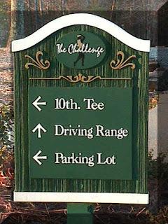 Placas para campo de golfe