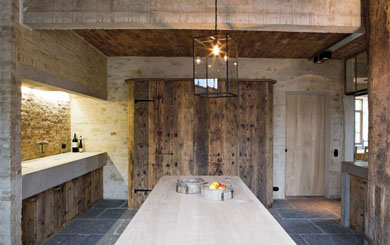 #01 - Restored Farmhouse by Architect Bernard de Clerck, image via Corvelyn as seen on linenandlavender.net http://www.linenandlavender.net/2013/02/bernard-de-clerck-architect-be.html