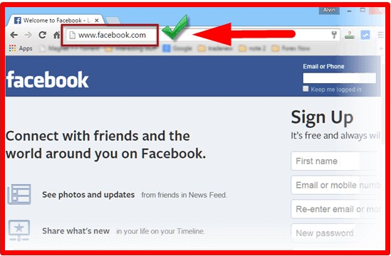 Facebook Sign In Login Page