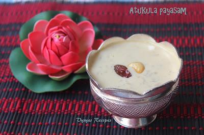 Atukula Payasam with Jaggery - Aval Payasam -  Rice flakes Payasam