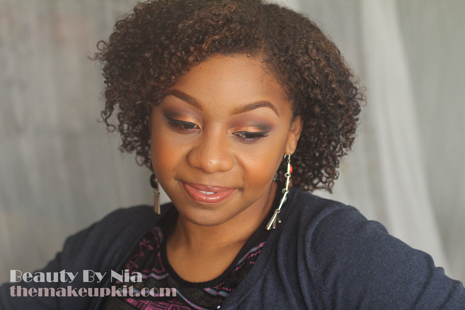 Burnt Orange Smokey Eye MakeUp Look 7