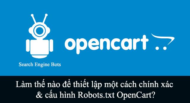 Hướng dẫn thêm Robots.txt cho Opencart 3