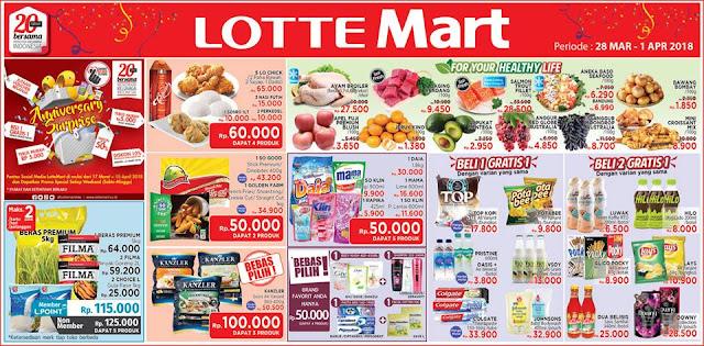 Katalog Harga Promo LOTTEMART Hypermarket Akhir Pekan 28 Maret - 01 April 2018