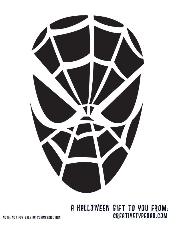 Download Free Printable spiderman pumpkin stencil Designs | Funny ...