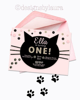 printable cat invitation