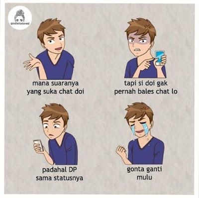 Doi lagi chat sama orang lain mungkin