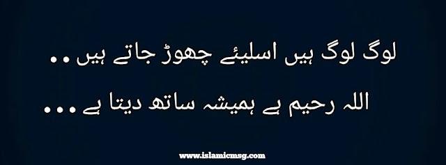 Log or Allah dost