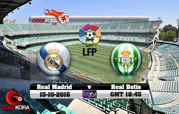 مشاهدة مباراة ريال بيتيس وريال مدريد اليوم 15-10-2016 في الدوري الأسباني