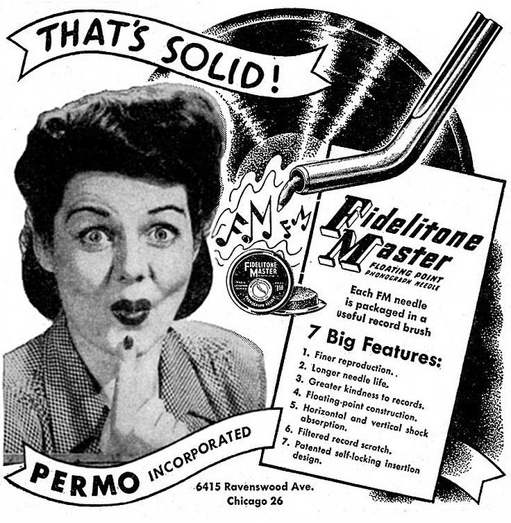 Vinyl Philosophy Vintage Advertisement Fidelitone