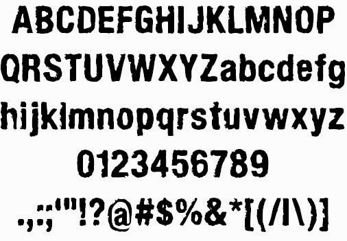 ArmyChalk font