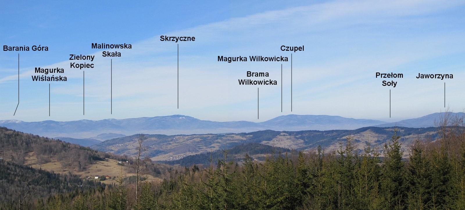 Panorama z północno-zachodnich stoków Jałowca.