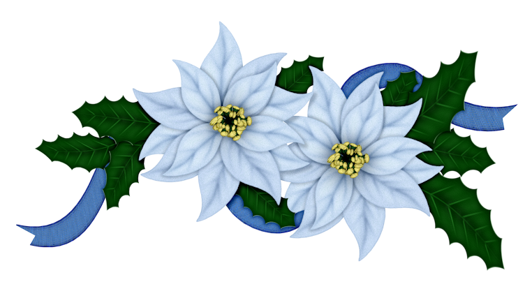 Flowers Of Christmas In Blue Clip Art Oh My Fiesta In