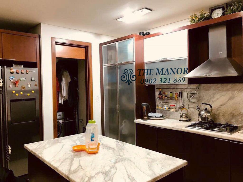 3 phòng ngủ cho thuê The Manor căn hộ 163m2 nội thất đẹp - phòng bếp