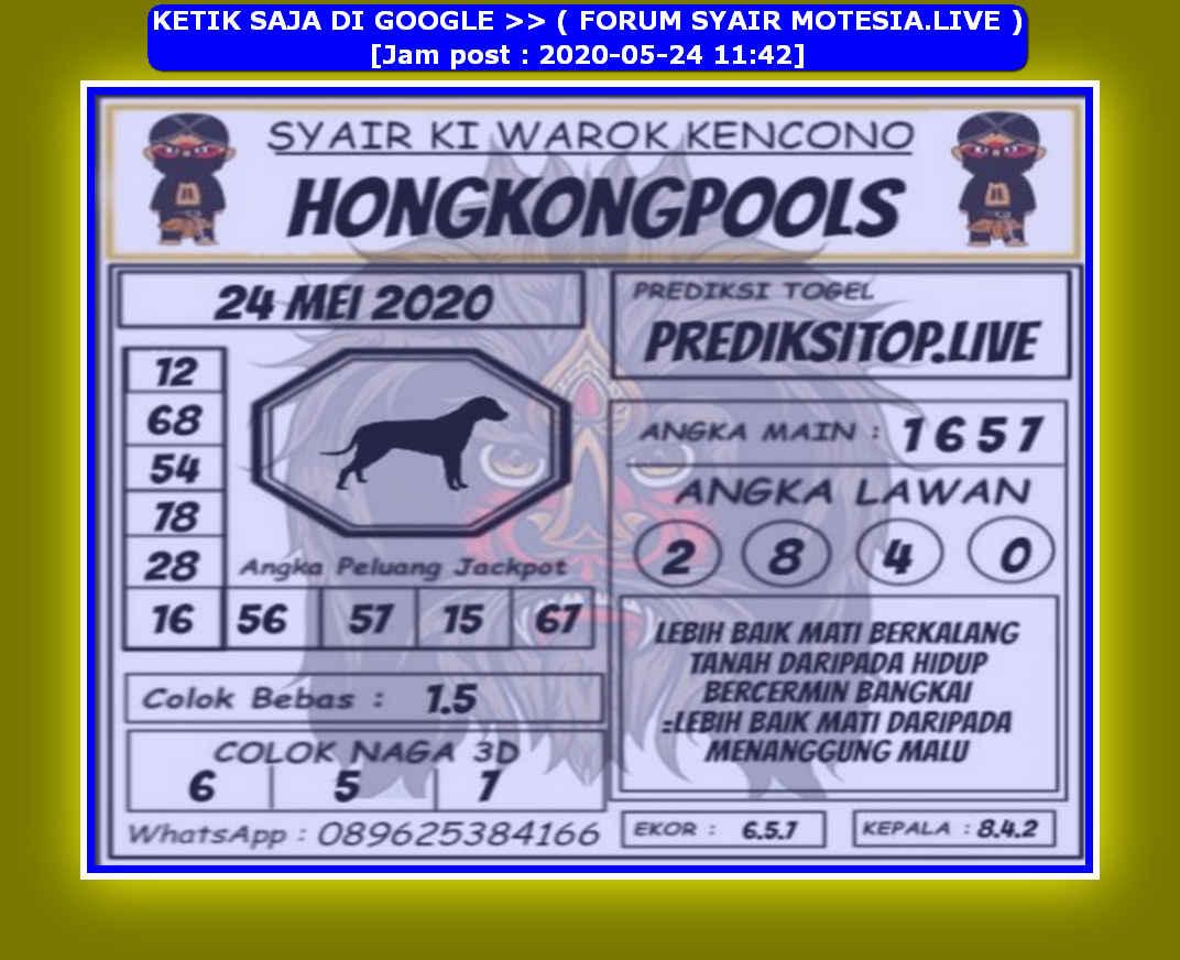 Kode syair Hongkong Minggu 24 Mei 2020 195