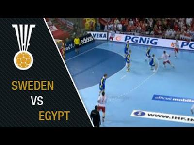 مشاهدة مباراة مصر والسويد بث مباشر اليوم