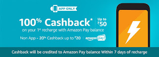 Amazon Mobile Recharge 100% Cash Back Offer (Amazon Recharge Loot Trick)