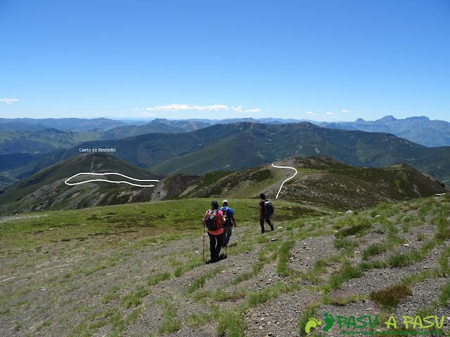 Bajada del Pico el Cuadro al Collado Sierra Bermejo