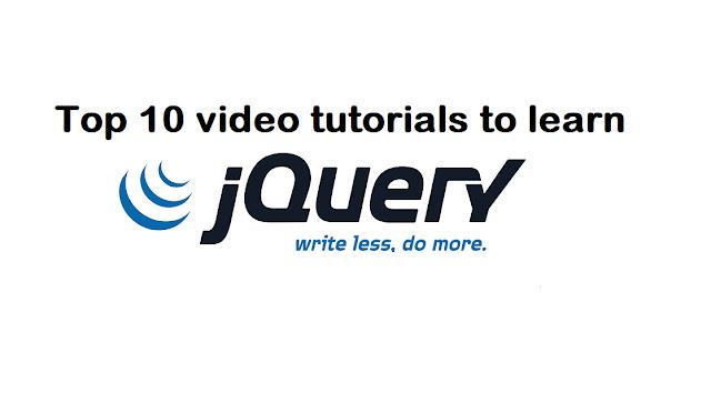 Top 10 best jQuery video tutorials