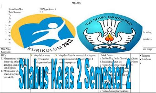 Silabus Kelas 2 SD/MI Semester 2 Kurikulum 2013 Revisi Terbaru