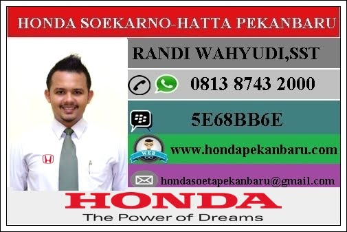 Paket Kredi Honda Jazz DP 15 Persen ADDB Pekanbaru ,Riau Januari 2017