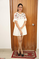Lavanya Tripathi in Summer Style Spicy Short White Dress at her Interview  Exclusive 268.JPG