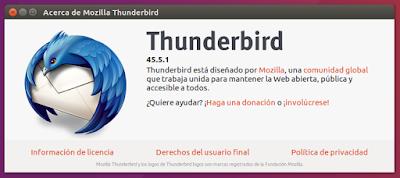 Acerca de Mozilla Thunderbird