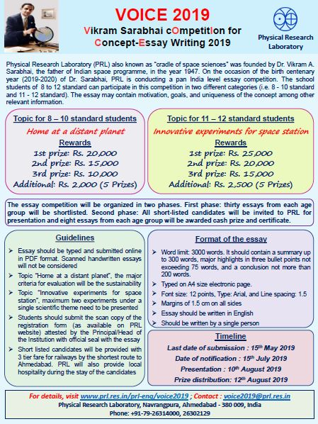 Synthesis Essay Ideas  Proposal Essay Examples also How To Write An Essay For High School Voice  Vikram Sarabhai Competition For Conceptessay  Apa Essay Papers