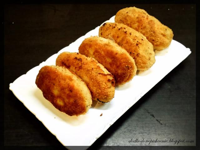mielone roladki drobiowe z serem i ryżem