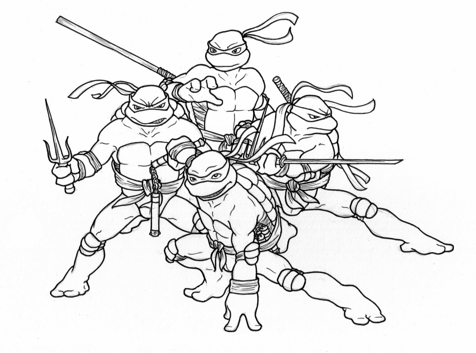 t ninja turtles coloring pages - photo #20