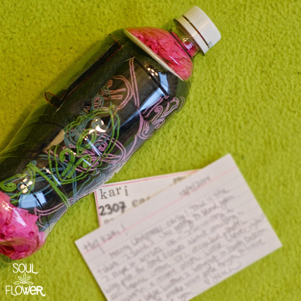 16 insert note - 13 Oz or Less - A Recycled Bottle Mailer DIY