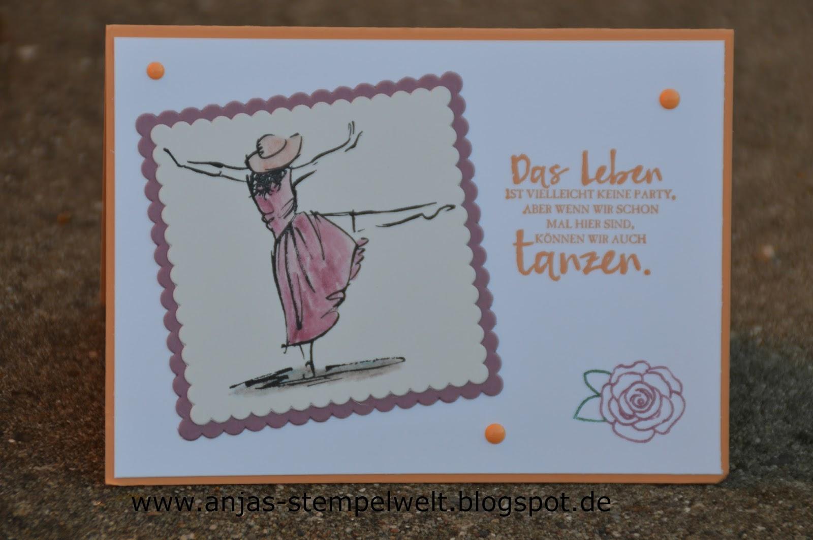 Komm Lass Uns Tanzen Anjas Stempelwelt Unabhängige Stampin