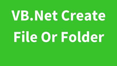 VB.Net Create Directory