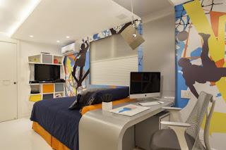habitación moderna para chico