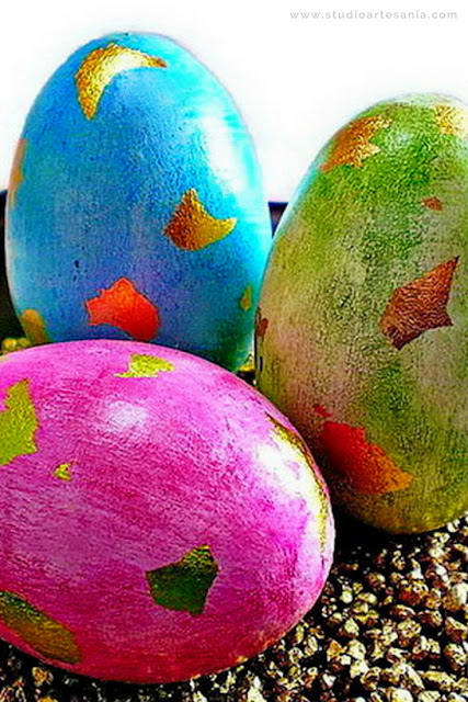 DIY Decorative wooden Easter eggs