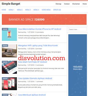 Template Terbaru 2017 Simple Banget Seo Responsive Download Gratis