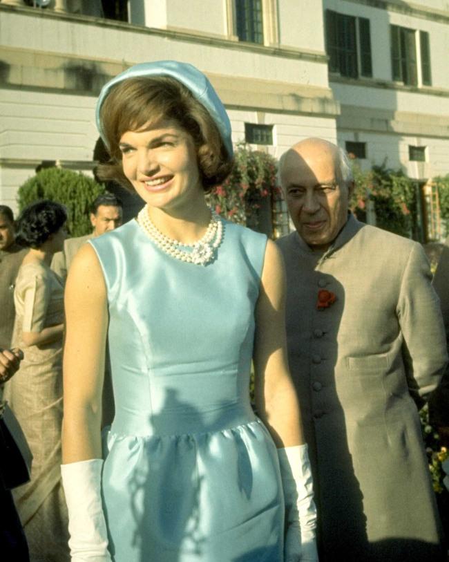 Jackie Kennedy Blue Dress