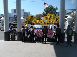 Protes Pendangkalan Sungai Grindulu, PMII Pacitan Datangi DPRD