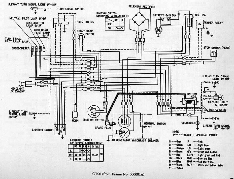 part 1 complete wiring diagrams of honda ct90 | all about ... honda ct90 wiring diagram