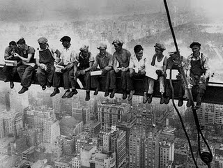 Empire State Building construction workers