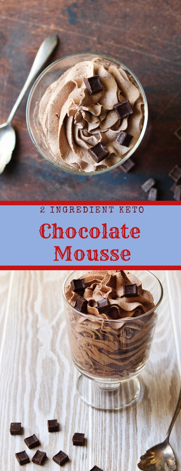 2 Ingredient Keto Chocolate Mousse #KETO #CHOCOLATE #VALENTINE