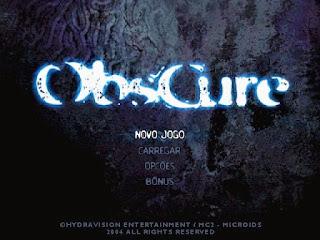 Menu Obscure 1 PS2 2005 Pt-Br ISO Site: Jogo sem vírus
