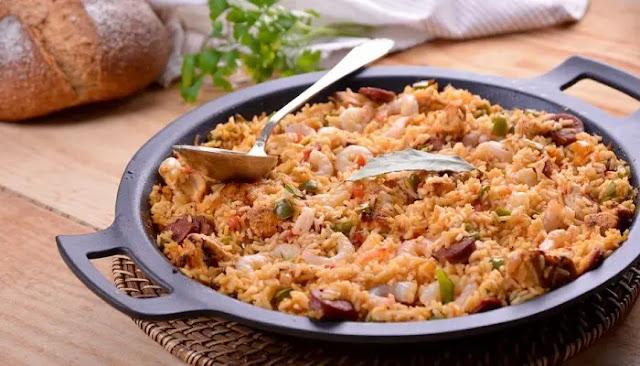 Pollo y chorizo con todo el estilo jambalaya
