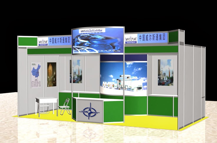 Simple Exhibition Stand Near Me : Stand semi booth partisi r pameran moti