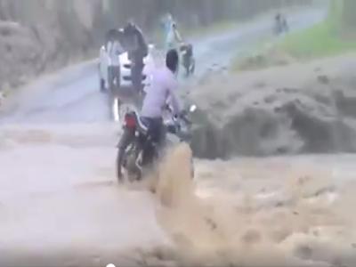 seorang lelaki nekad melintasi banjir dan tenggelam