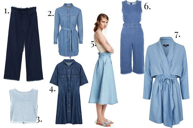 S/S 16, Trends, Denim, High Street Brands, Mango, Topshop, New Look, Zara, H&M, New Look