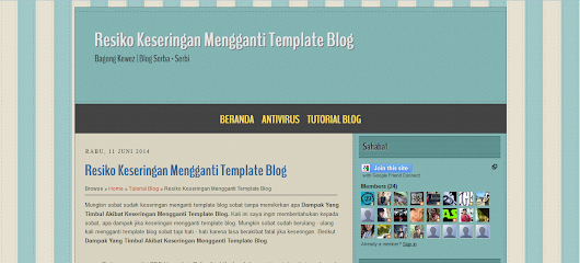 Template SEO Friendly Masculine Cardbroard ~ Tutorial Kewez