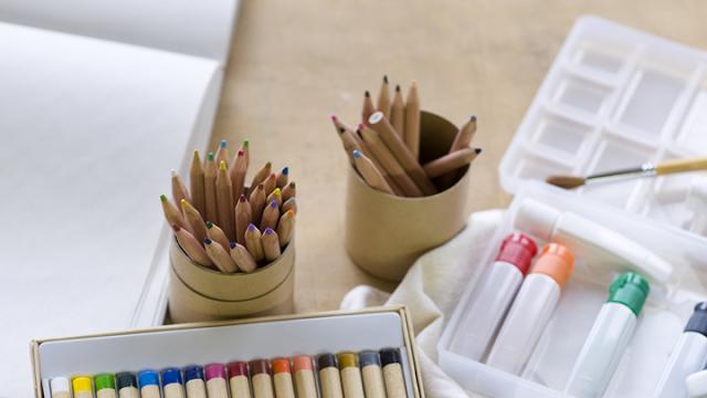 Lapices de colores y pinturas de MUJI