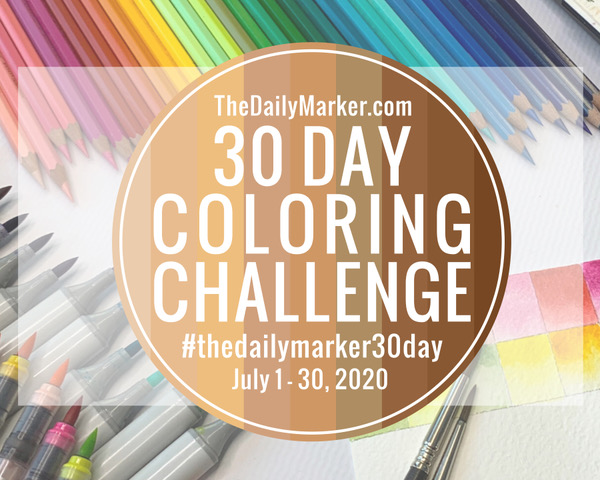 ♥ The Daily Marker 30 Day Coloring Challenge
